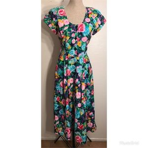 Vintage Dresses - Romantic vintage floral sundress
